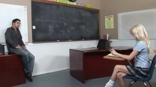 Kinky cram makes schoolgirl fuck with him be advantageous to good marks