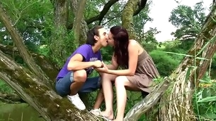 Nature becomes dramatize expunge consummate place be fitting of a stunning legal age teenager fucking