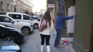 Dude is giving sweet sweetheart a raucous cunt fond action