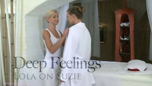 Tantalizing All the related are massaging with gorgeous Lola and Suzie