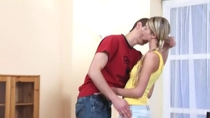 Legal Age Teenager playgirl makes a voiced and gets slit-licking yon focus on