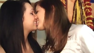 Those torrid college cuties love watching each other win fucked!